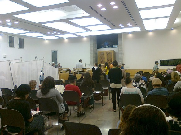 Inside the synagogue. Photo: Kehilat Yedidiya