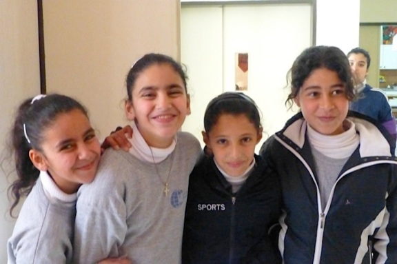 Girls at the Swedish International Relief Association School