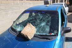 F. Djurklou Teacher's Car Damaged by Settlers Jalud 131009