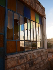 Israeli settlers threw rocks and broke these windows of the Jab'a Bedouin community. Photo EAPPI/J. Kaprio
