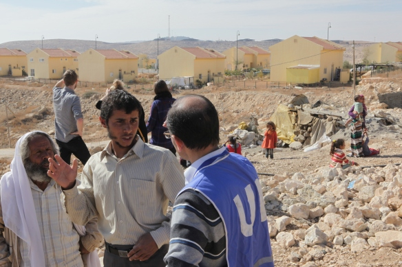 The settlement of Karmel is located right next to the Bedouin village of Um al Kher. Photo EAPPI/ G. Hember.