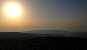 Many scenes from Yanoun are idyllic. Like this sunset over the distant hills...