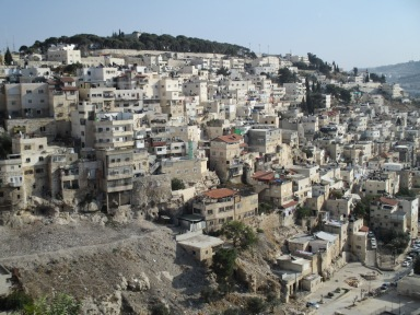 The Palestinian neighborhood of Silwan in Jerusalem is located next to the Old City walls. Photo EAPPI.