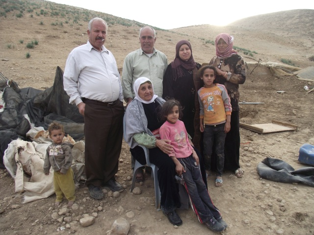 The Daraghmi family after their home was demolished. Photo EAPPI/A. Batista.