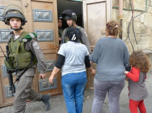 The Israeli army raids the home of a Palestinian Christian family in al-Khader. Photo EAPPI/A. Morgan.