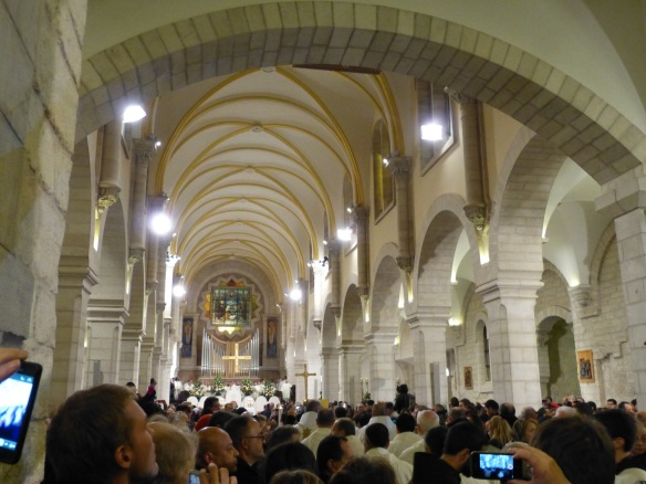 The Christmas Eve Midnight Mass at the Church of the Nativity. Photo EAPPI/A. Morgan.