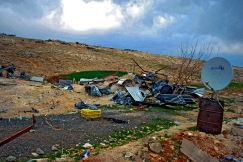 Unrecognised villages are denied access to services such as running water and electricity by the Israeli authorities. As a result the Bedouin of the Jerusalem periphery have limited access to potable water or electricity. Often they rely on water bought from tankers at increased cost or water from wells and electricity supplied by generators or 'illegal' hook-ups to nearby towns. Photo EAPPI/J. Byrne.