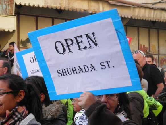 Open Shuhada Street demonstrations from 2011. This year's week of solidarity will be February 21-25. Photo EAPPI/L. Tuominen.