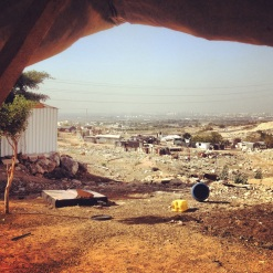 The view of Arab ar Ramadin bedouin village from the community gathering tent. Photo EAPPI/H. Breen.
