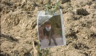 A father in Burin plants an olive tree in memory of his 3 year old son who died from brain cancer. Photo EAPPI/P. Kaegi.