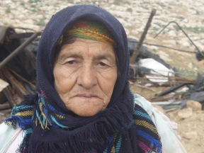 Masadi is full of grief after the demolition of her home. Photo EAPPI/K. Hodgson.