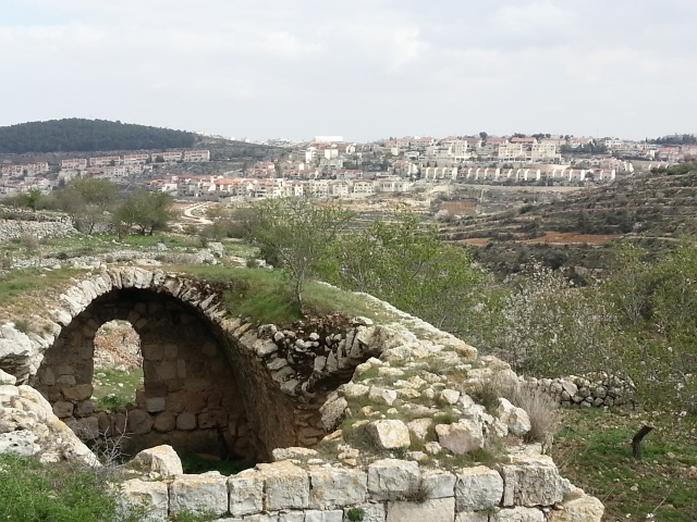 The settlement of Efrat can been seen in the distance from the land of Al-Khadr. Photo EAPPI.
