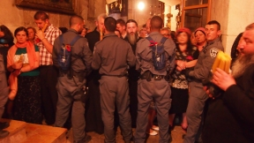 Israeli police also blocked worshippers from entering the Church of the Holy Sepulchre. Photo EAPPI/J. Valkama.