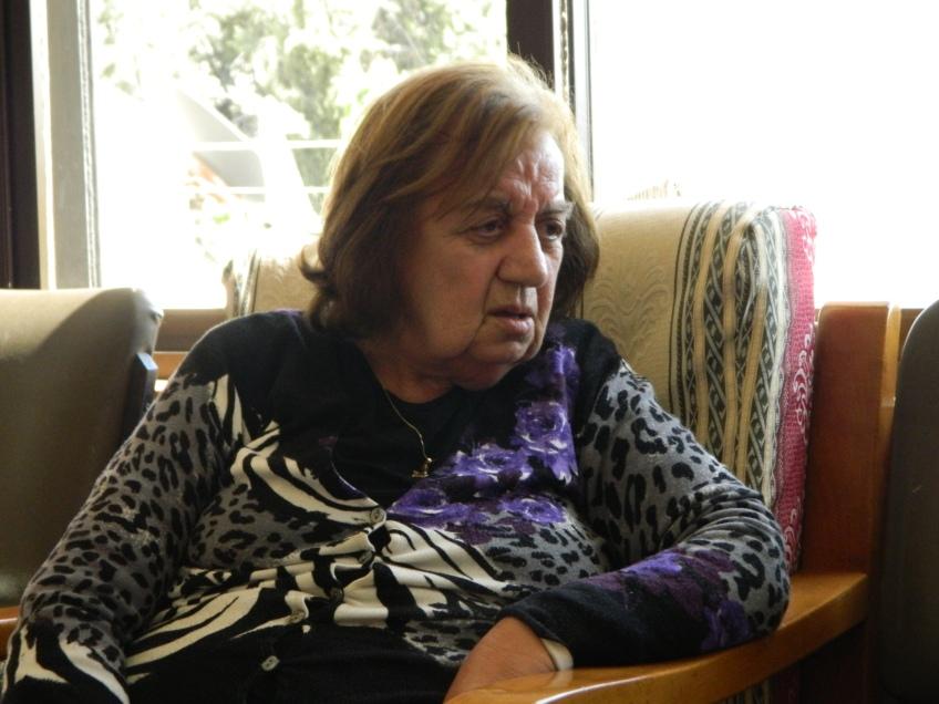 Antoinette in her home in Bethlehem. Photo EAPPI/L. Hilton.
