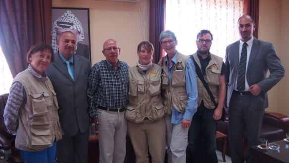 The EAPPI Ar Ram team visiting the mayor's office in Ar Ram. Photo EAPPI/J. Valkama