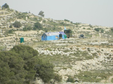 The Israeli settlement outpost in Khallet Annahlah. Photo EAPPI/L. Hilton.