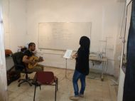 Singing lessons at Madaa Centre. Photo EAPPI/L. Sharpe.