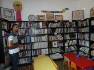 The library at Madaa Centre.