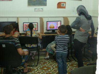 The computer room at the Madaa Silwan Creative Centre. Photo EAPPI/L. Sharpe.