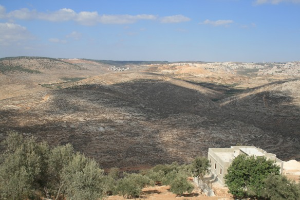 View of Al Jab'a and land to be confiscated.
