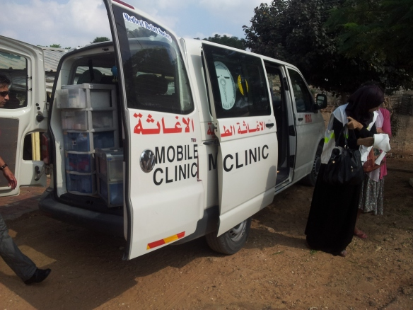 The car for the PMRS mobile clinic, loaded with medical supplies. Photo EAPPI/S. Skånberg.