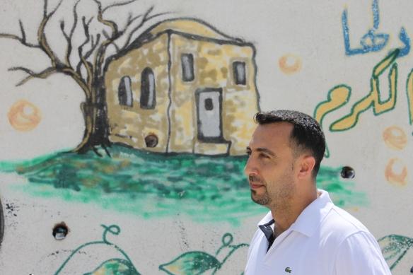 Isaac Al Khadi, a teacher at Al Khader Junior School. Photo EAPPI.