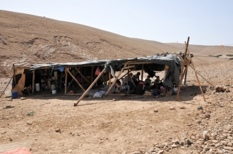 Bedouin from Khan al Ahmar who will be displaced by Nuweimah plans. Photo EAPPI/BG. Saltnes.