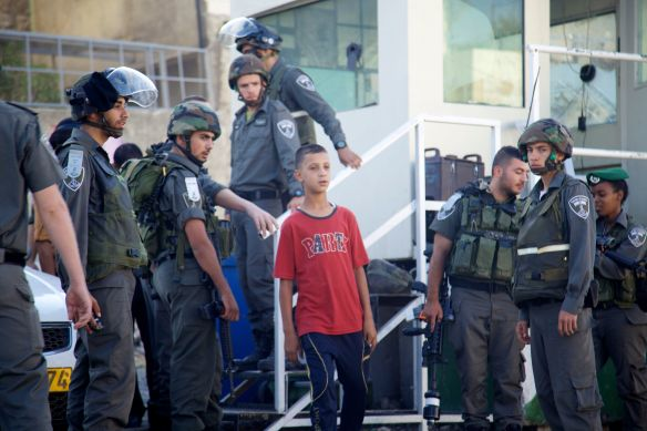 Picture of  12-year-old Yousef Hajajreh, who was arrested on 8 September. Photo EAPPI/N. Forsstroem.