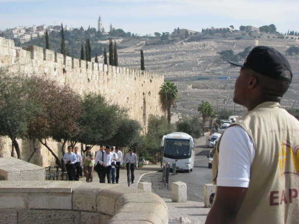 EA outside Old City of Jerusalem