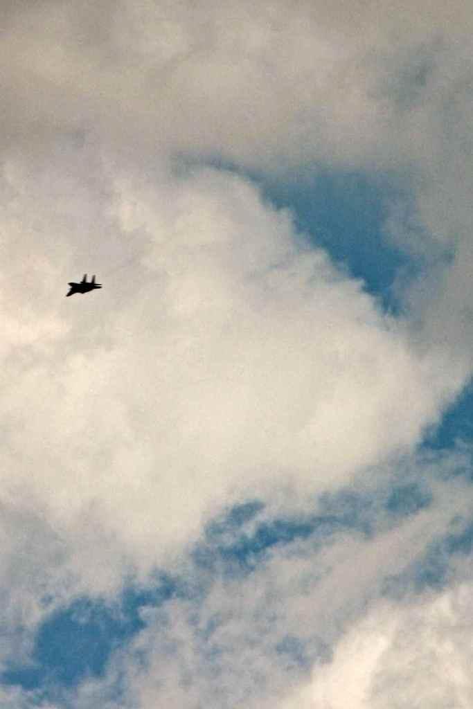 photo of military jet over Al Aqaba