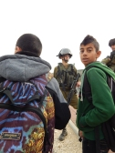 R Viney-Wood - Boys waiting to get to As Sawiya school - 031214