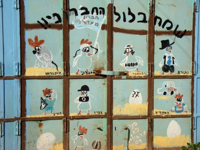 D.Peschel - Grafitti on Shuhada Street - Find yourself in the picture - Hebron - 281214