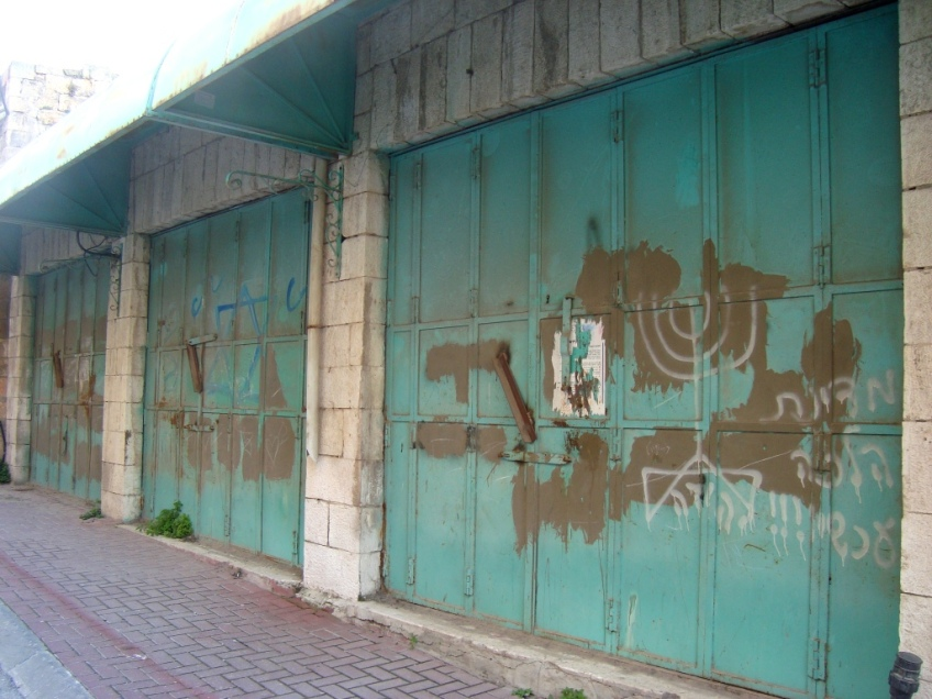 D.Peschel - New 'graffiti' on Shuhada Street' - Hebron - 281214