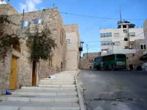 D.Peschel - New pavement made by HRC on the street leading to Kiryat Arba settlement - Hebron - 281214
