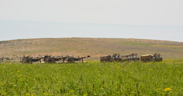 Tanks Arrive in Tawayel, Tell al Khashaba, Nablus. Photo EAPPI 20/04/2015