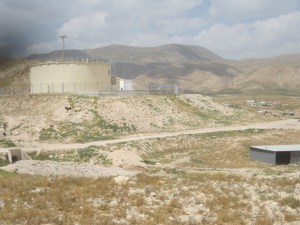 A Makarot water silo in the Jordan Valley. Credit: EAPPI/P Hughes