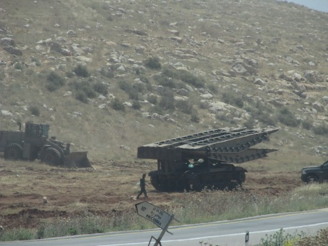 290415 Jordan Valley. Israeli military vehicles. Photo JVS