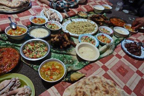 21.06.15 South Hebron Hills, Susiya. IFTAR feast Photo EAPPI