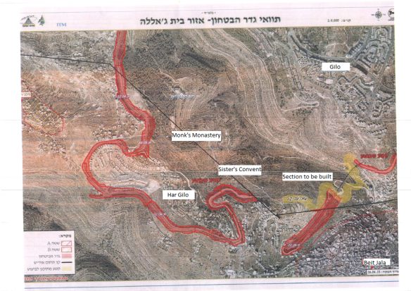 Map - Planned works in Cremisan valley