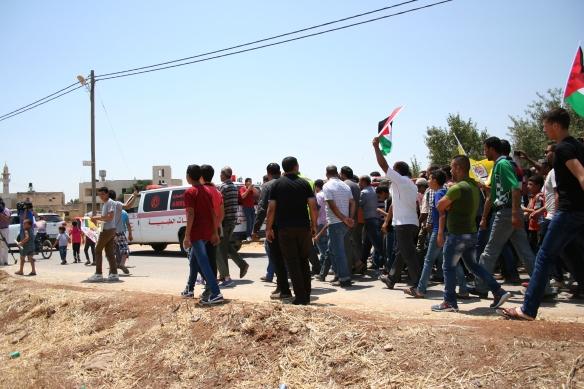 31.07.15 Nablus, Duma. Funeral Procession for Ali Saad Dawabsheh, Photo EAPPI / J. Burkhalter
