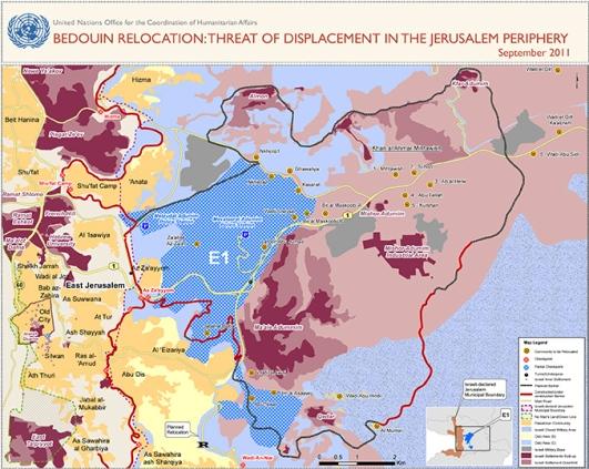 Map E1, UNOCHA 2011