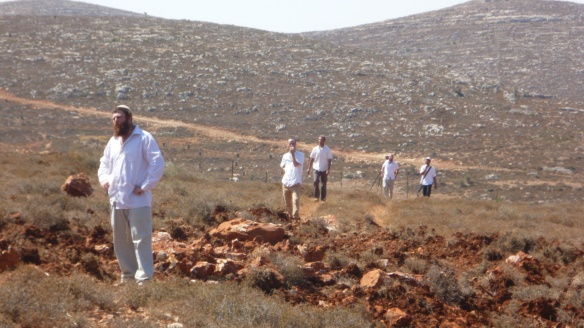 01.08.15 Nablus, Qusra Village, Settlers entering the Palestinian land, Photo EAPPI / S. Trebunia