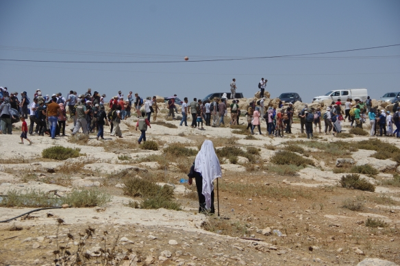 24.07.15. South Hebron Hills, Susiya Peace Walk. Photo EAPPI / S. Lise Bedringaas
