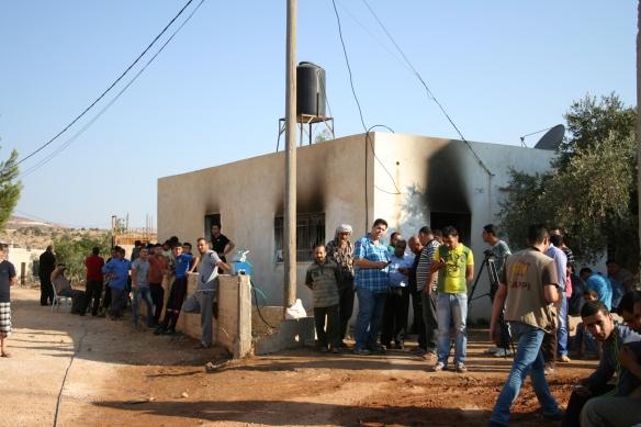 31.07.15 Nablus Duma. House of Dawabsheh family firebombed by settlers. Photo EAPPI J. Burkhalter