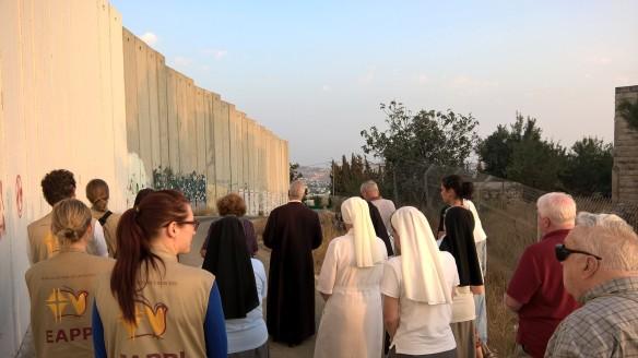 02.10.15, Bethlehem, Wall Prayer, Photo EAPPI Suvi R.