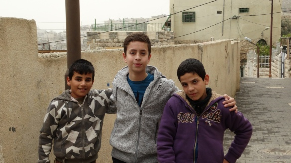 06.11.15 Hebron H2. Cordoba school children (from left to right) Hazem, Munib and Qusai. Photo EAPPI/H. Griffiths