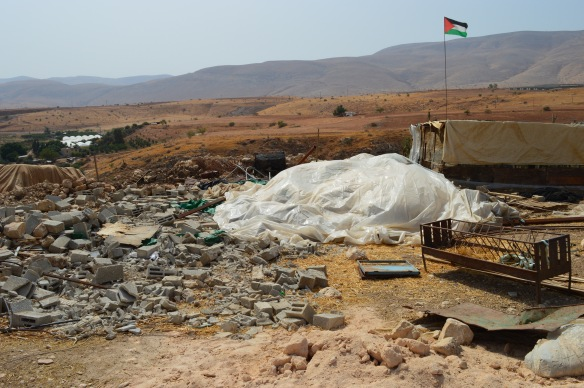 12.10.15. Jordan Valley, Humsa. Remains of the demolished home. EAPPI/ J. Puukki