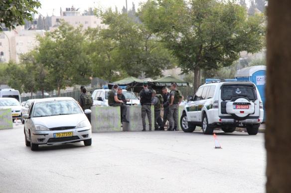 24.10.15. East Jerusalem, mount of olives. New checkpoint just outside Augusta Viktoria hospital. Photo EAPPI. S. Magnusson