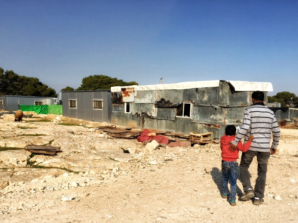 21.12.15 East Jerusalem, Jabal Al Baba, Atallah and his son. Photo EAPPI/M. Carvalho