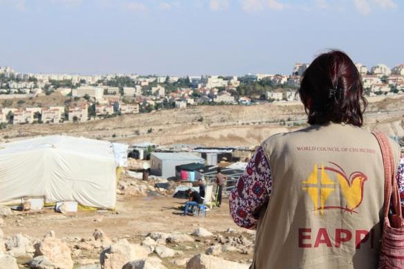 31.10.15. East Jerusalem. Jabal al Baba communtiy in foreground and the settlement Maali Adumim in bakground. Photo EAPPI/S. Magnusson